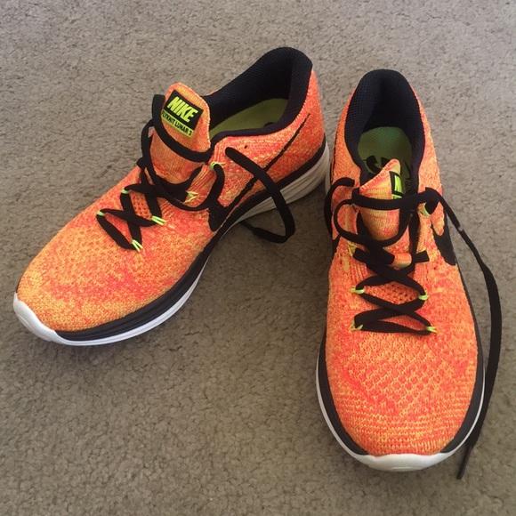 official photos 367d1 56c27 SALE Nike Flyknit Lunar 3 orange yellow 6. M 5adb850384b5ce8831176e7d